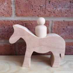 Horse with peg doll