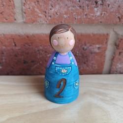 Birthday engraved peg
