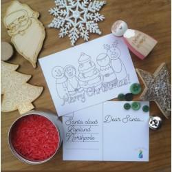 2 x Christmas colouring...